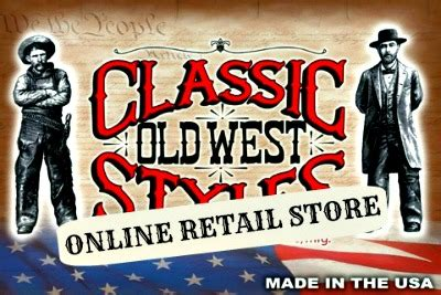 Authentic cowboy gun holsters and clothing