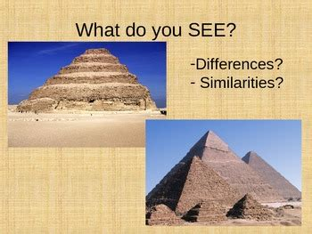 Egyptian Pyramids Powerpoint and Assignment by 6th Grade