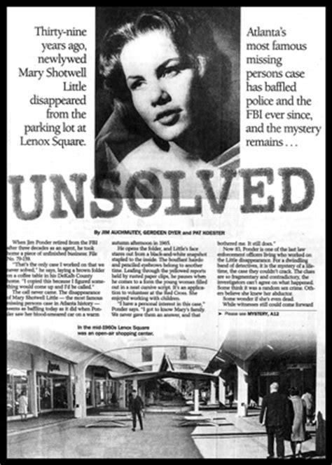 Cold Case Atlanta | Mary Shotwell Little | Monument Multi