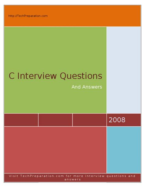 C Interview Questions - TechPreparation | Subroutine