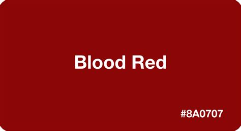 Blood Red HEX Code #8A0707