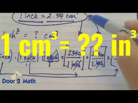 *How many cubic inches is 1 cubic centimeter? - YouTube