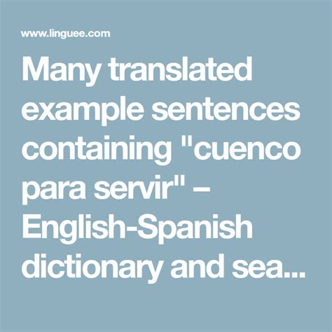 """Many translated example sentences containing """"cuenco para"""