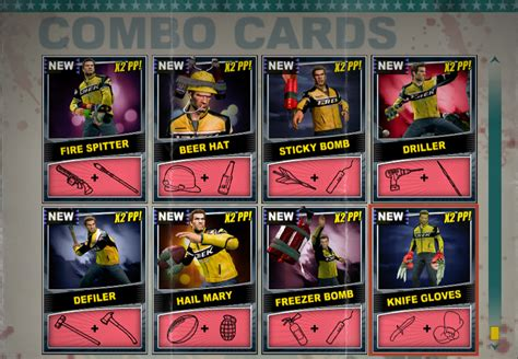 Image - Dead rising Combo Card sheet of 8 (2)