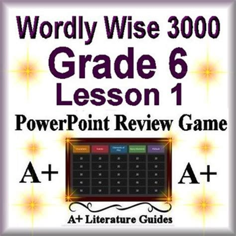 Wordly Wise 3000 Game - Review Book 6 Lesson 1 by A - PLUS