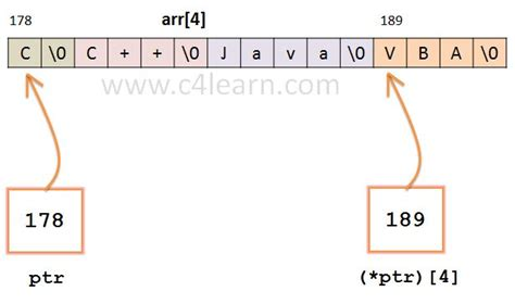 C pointer to array of string - C Programming - c4learn