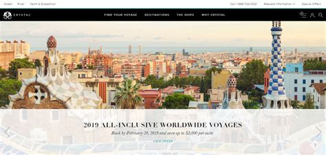 Crystal Unveils New Website - Cruise Industry News