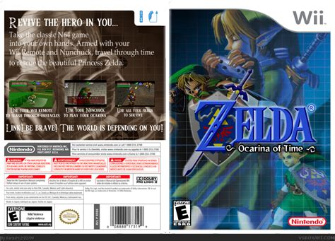 The Legend of Zelda: Ocarina of Time Wii Box Art Cover by