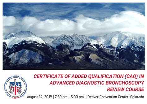 CAQ in Advanced Diagnostic Bronchoscopy Review Course – AABIP