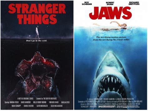 Stranger Things posters channel classic films