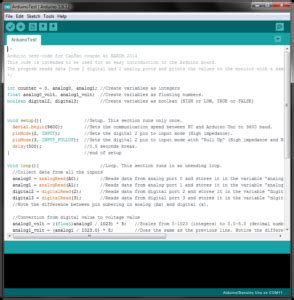 Software start up and test of Arduino Uno | NAROM