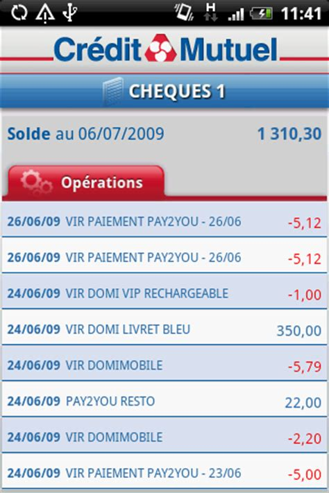 CREDIT MUTUEL MASSIF CENTRAL : Application bancaire iPhone