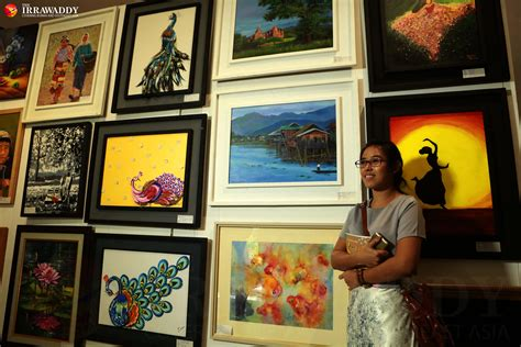 Female Artists' Exhibition Opens in Rangoon