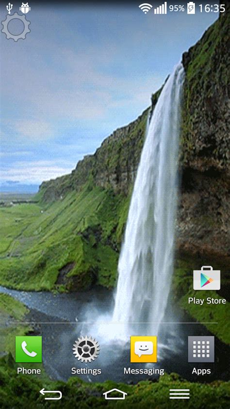 Waterfall Sound Live Wallpaper for Android - Free download
