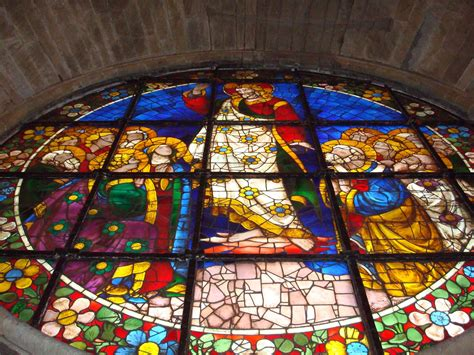 Florence - Medieval, Round Stained-Glass Window